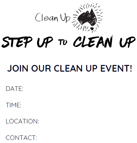 Digital asset- localised poster - Join our Clean Up