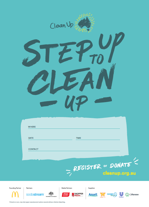 2021 Clean Up Australia Day poster