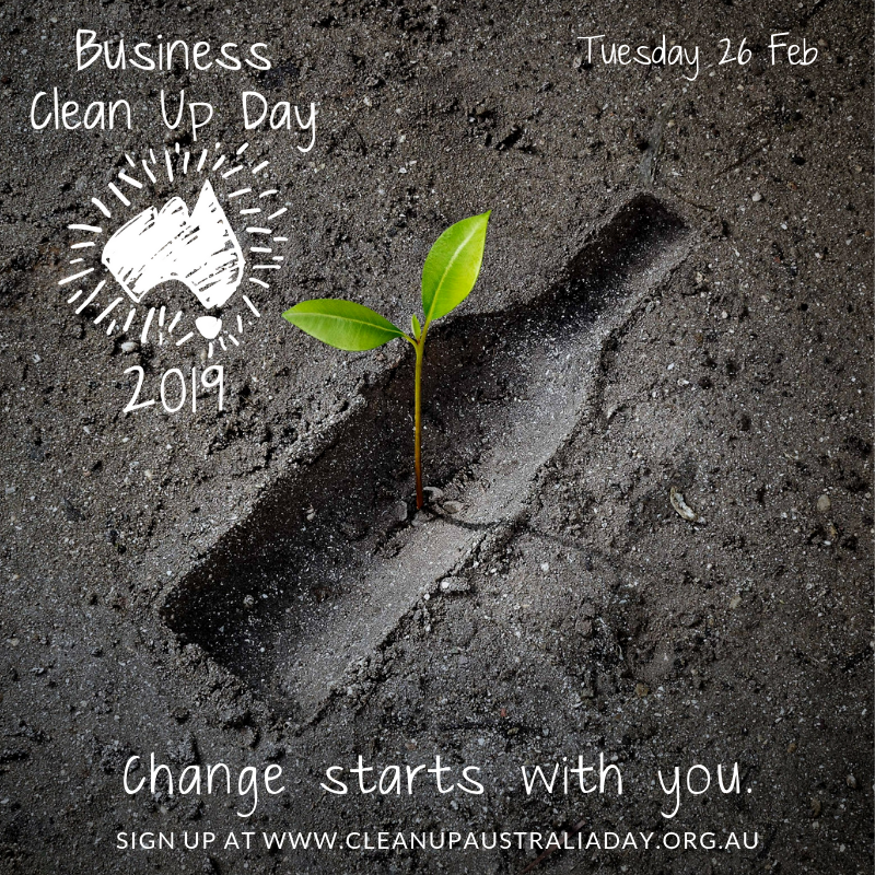 Business Clean Up Day Graphic