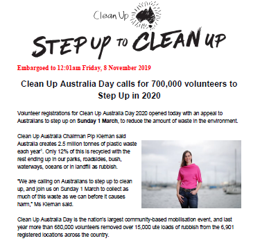 Media Release - Step Up In 2020